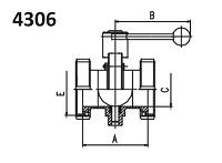 Затвор дисковый нержавеющий AISI 304
